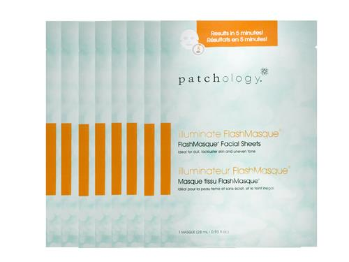 patchology Iluminate FlashMasque Facial Sheets - 8 Pack