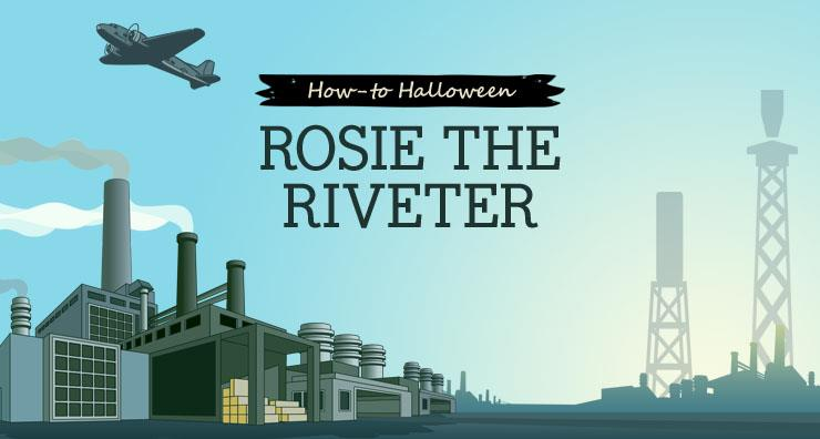 Halloween How-to: Rosie the Riveter