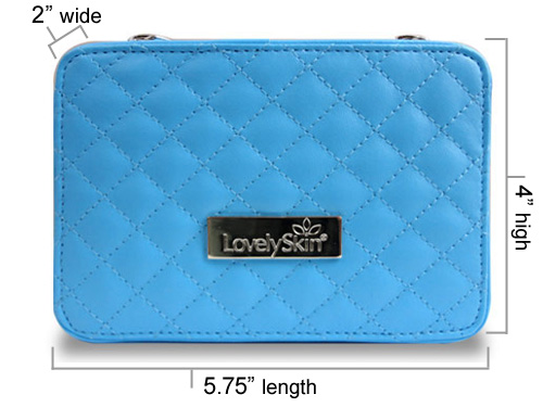 LovelySkin Blue Quilted Makeup Case