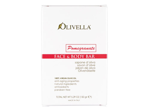 Olivella Face & Body Bar Pomegranate