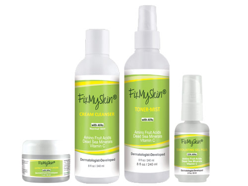 FixMySkin Wrinkle Relief Starter Set for Dry Skin - Step Two Plus