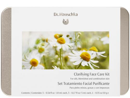 Dr. Hauschka Clarifying Face Care Kit: Oily, Blemished & Combination (formerly Daily Face Care Kit) with seven Dr. Hauschka skin products