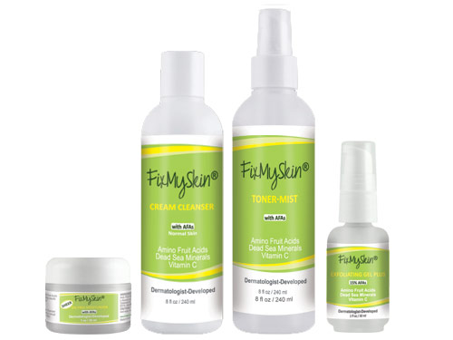 FixMySkin Wrinkle Relief Starter Set for Normal Skin - Step Two Plus