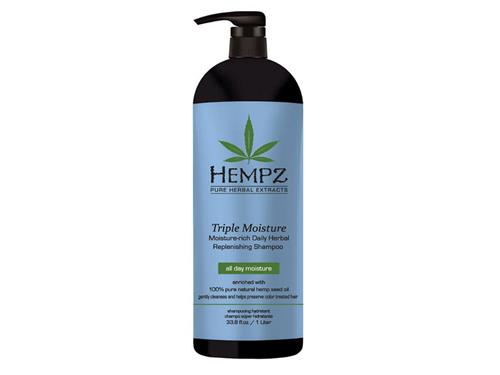 Hempz Haircare Triple Moisture Moisture-Rich Daily Herbal Replenishing Shampoo Liter