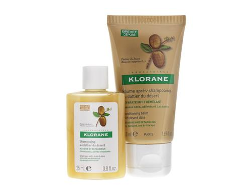 Free $8 Klorane Shampoo & Conditioning Balm with Desert Date Travel Duo