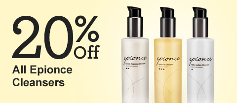 20% Off Epionce Cleanser Products!
