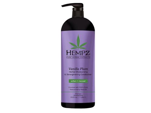 Hempz Haircare Vanilla Plum Herbal Moisturizing & Strengthening Conditioner Liter