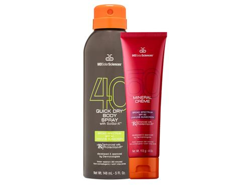 MDSolarSciences Mineral Crème SPF 50 + Quick Dry Body Spray SPF 40 Duo