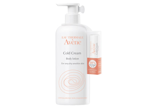 Avene Cold Cream Body Lotion & Lip Balm Bonus Pack
