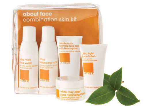 LATHER About Face Combination Skin Kit
