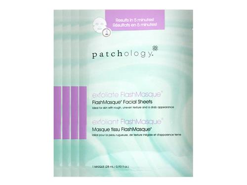 patchology Exfoliate FlashMasque Facial Sheets - 4 Pack