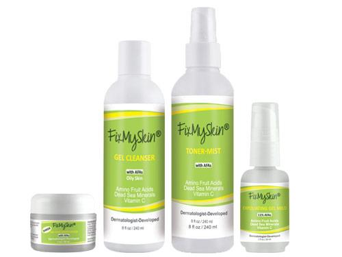 FixMySkin Daily Skin Care Package for Oily Skin - Step One Mild