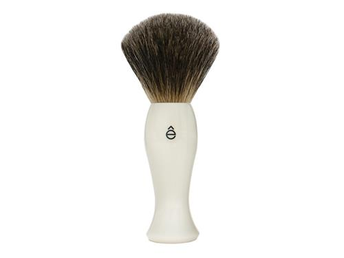 eShave Badger Hair Shave Brush - White
