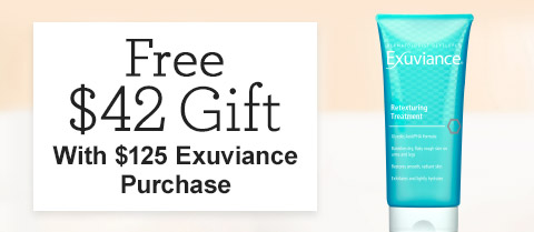 Free $42 Exuviance Retexturing Treatment!