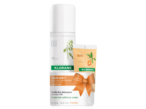 Klorane Dry Shampoo with Conditioner with Mango Value Set Limited Edition