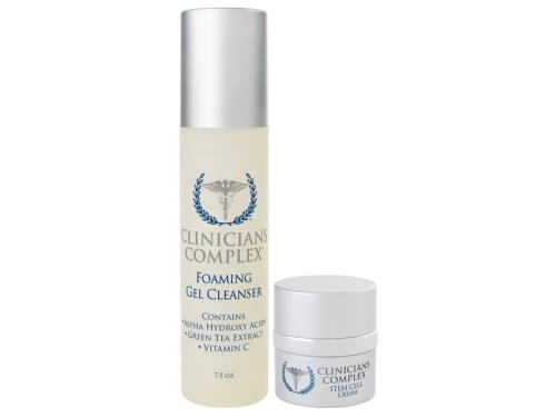 Clinicians Complex Holiday Duo - Foaming Gel Cleanser & Stem Cell Cream