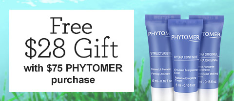 Receive a free 3-piece bonus gift with your $75 Phytomer purchase