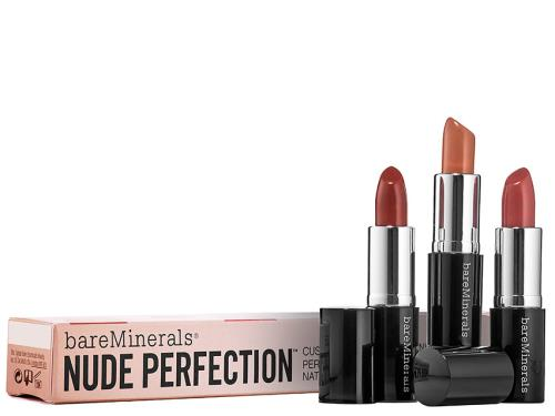 BareMinerals Beauty to Go - Nude Perfection Moxie Lipstick Trio - Limited Edition
