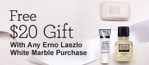 Receive a free 3-piece bonus gift with your Erno Laszlo White Marble Product purchase