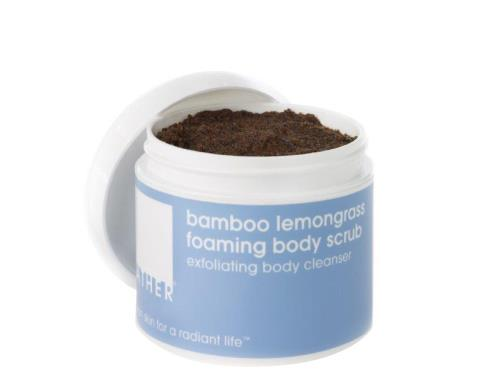 LATHER Bamboo Lemongrass Foaming Body Scrub - 8 oz