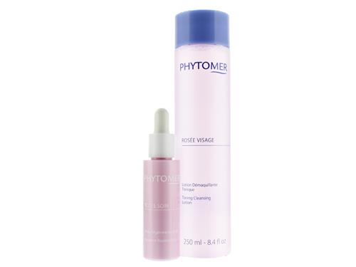 Phytomer Rosee Soin Radiance Replenishing Oil with Free Rosee Visage Toning Cleansing Lotion
