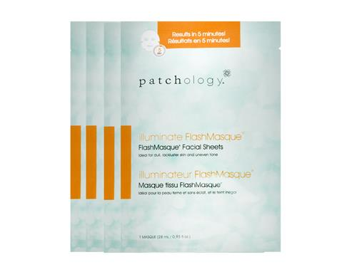 patchology Illuminate FlashMasque Facial Sheets - 4 Pack