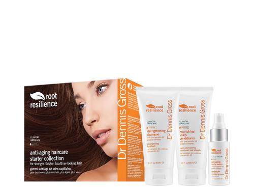 Dr. Dennis Gross Root Resilience Starter Collection for aging hair