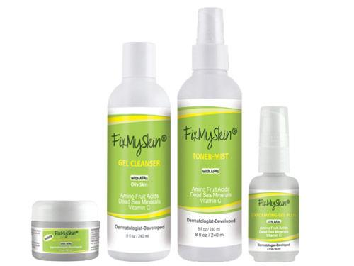 FixMySkin Daily Skin Care Package for Oily Skin - Step Two Plus