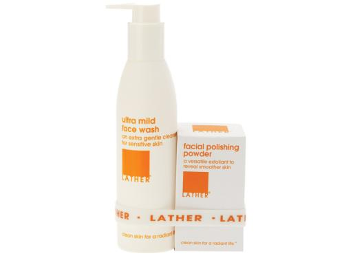 LATHER Cleansing & Polishing Pair - Combination Skin
