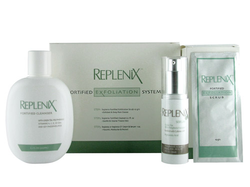 Replenix Fortified Exfoliation System with Replenix Serum with Caffeine
