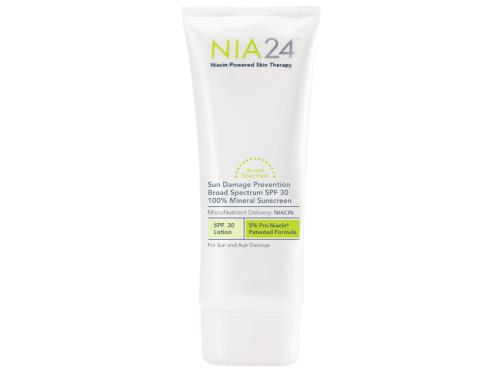 NIA24 Mineral Sunscreen Sun Damage Prevention Broad Spectrum SPF 30 100% Mineral Sunscreen