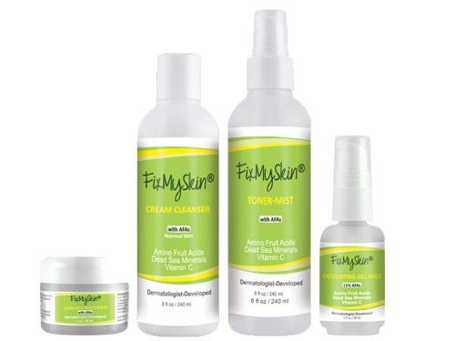 FixMySkin Daily Skin Care Package for Dry Skin - Step One Mild