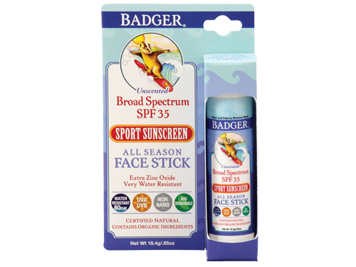 Badger SPF 35 Sport Sunscreen All Season Face Stick