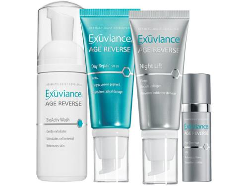 Exuviance Age Reverse Introductory Collection with four Exuviance skin products