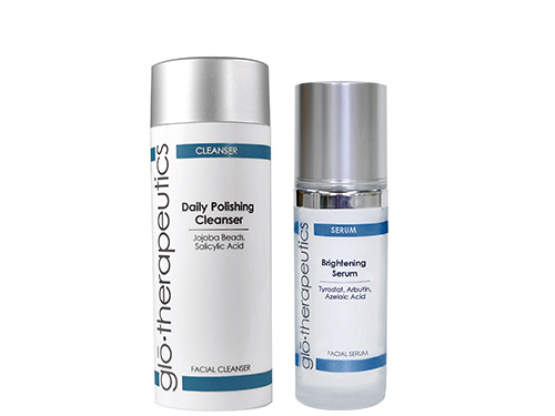 glo therapeutics Daily Polishing Cleanser and Brightening Serum Duo