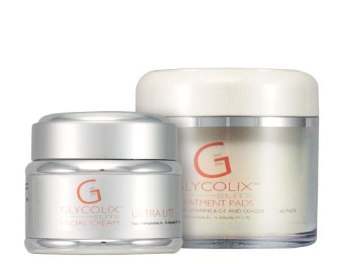Glycolix ELITE Treatment Pads 20% & Facial Cream Ultra Lite Duo