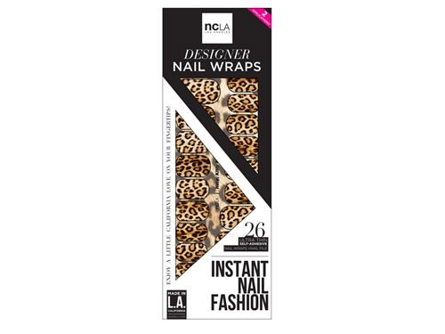 ncLA Nail Wraps - Here, Kitty Kitty