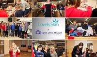 LovelySkin Volunteers at Open Door Mission