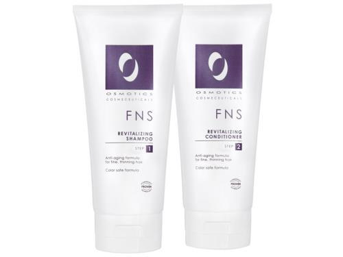 Osmotics FNS Revitalizing Shampoo and Conditioner Package with two aging hair care products