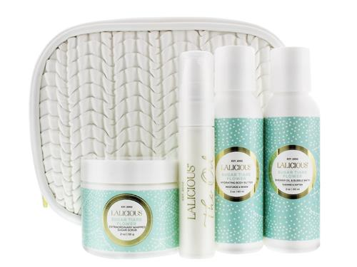 LaLicious Glow On The Go Travel Collection - Sugar Tiare Flower