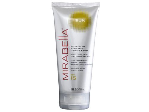 Mirabella Sun Sheer Lotion Sunscreen for Face and Body SPF 15