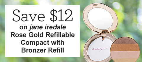 Save $12 on jane iredale Rose Gold Refillable Compact with Bronzer Refill!