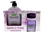 Hempz Herbal Body Moisturizer and Sugar Scrub Limited Edition Set - Vanilla Plum