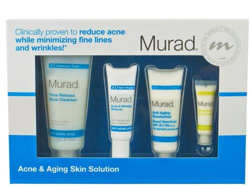 Murad Acne & Aging Skin Solution Regimen Kit with four Murad facial products