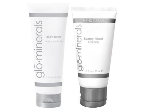 glo minerals Luxury Hand Cream and Body Butter Duo