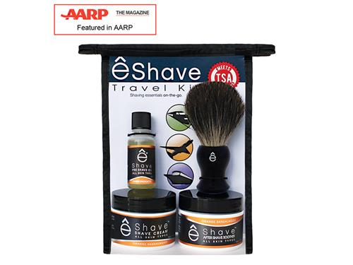 eShave Travel Shaving Kit TSA - Orange Sandalwood
