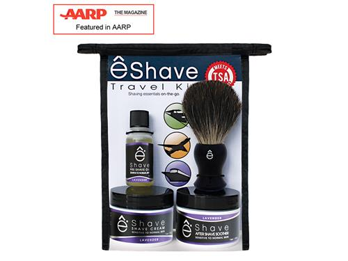 eShave Travel Shaving Kit TSA - Lavender