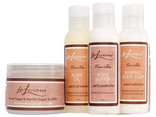 LaLicious Winter Wonderland Travel Set - Brown Sugar and Vanilla