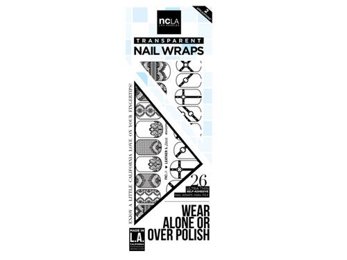 ncLA Nail Wraps - Leather and Lace