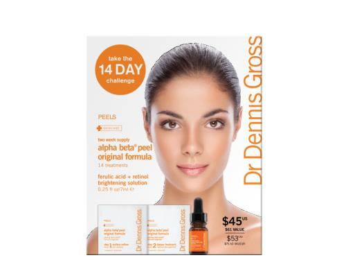 Dr. Dennis Gross Skincare Original Formula 14 Day Challenge with alpha beta peels
